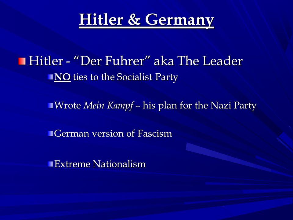 Hitler & Germany Hitler - Der Fuhrer aka The Leader