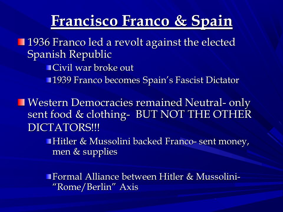 Francisco Franco & Spain