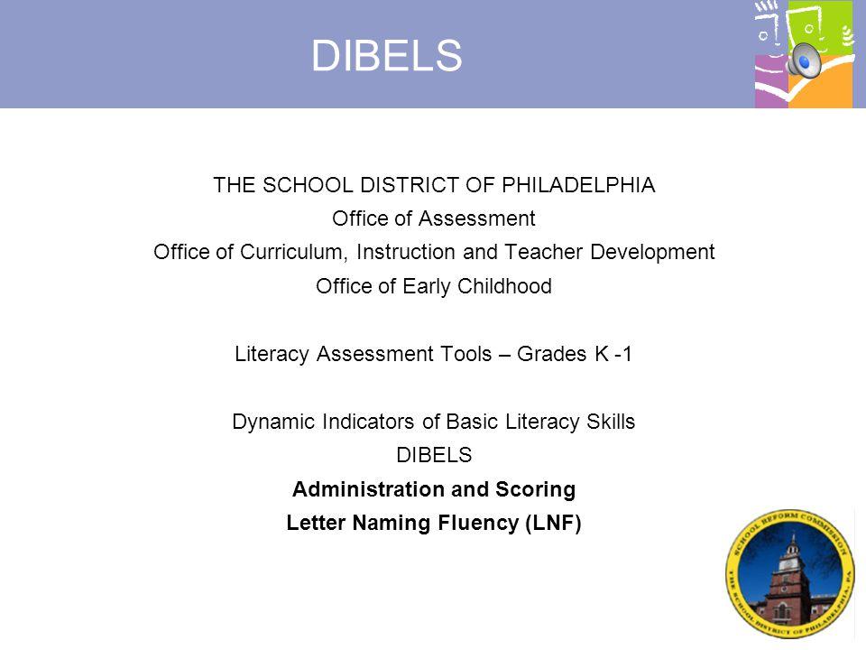 Administration and Scoring Letter Naming Fluency (LNF)