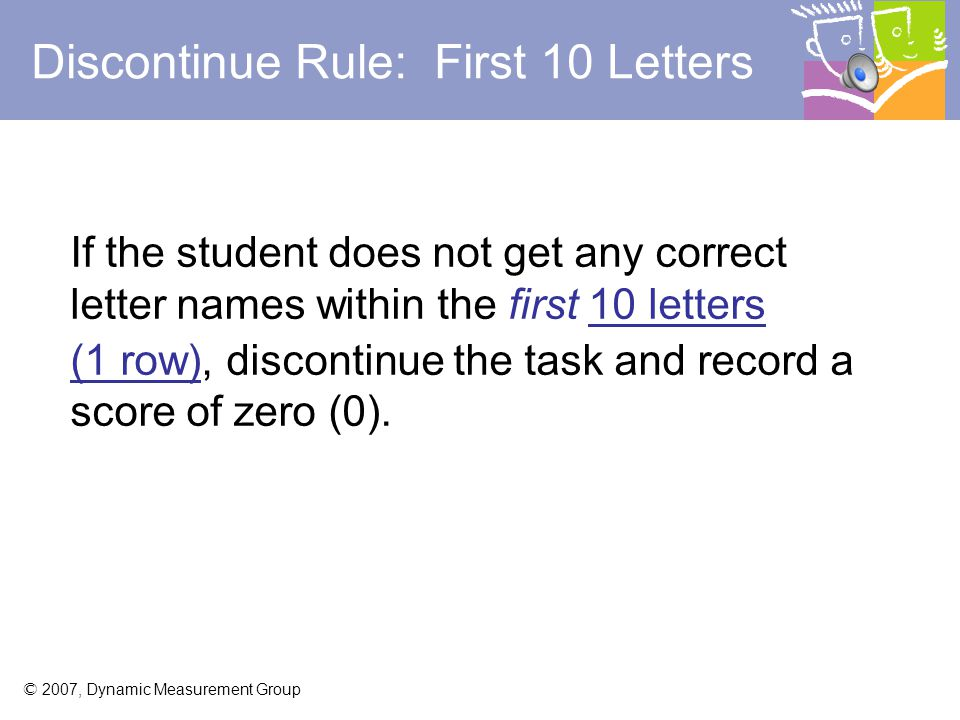 Discontinue Rule: First 10 Letters