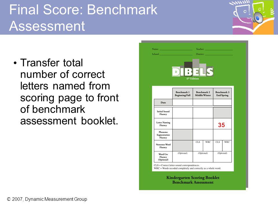 Final Score: Benchmark Assessment