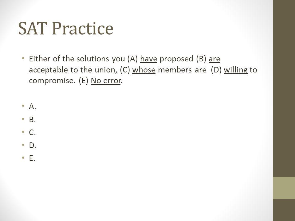 SAT Practice
