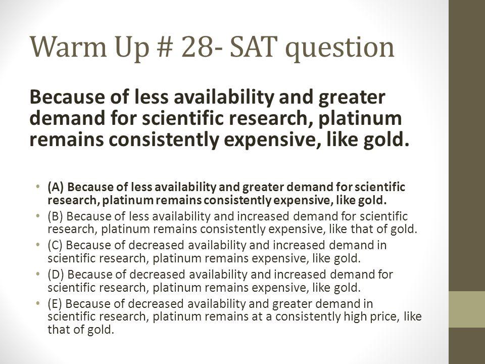 Warm Up # 28- SAT question