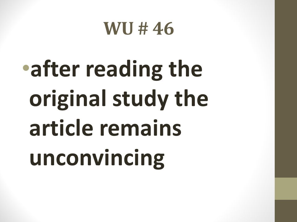after reading the original study the article remains unconvincing
