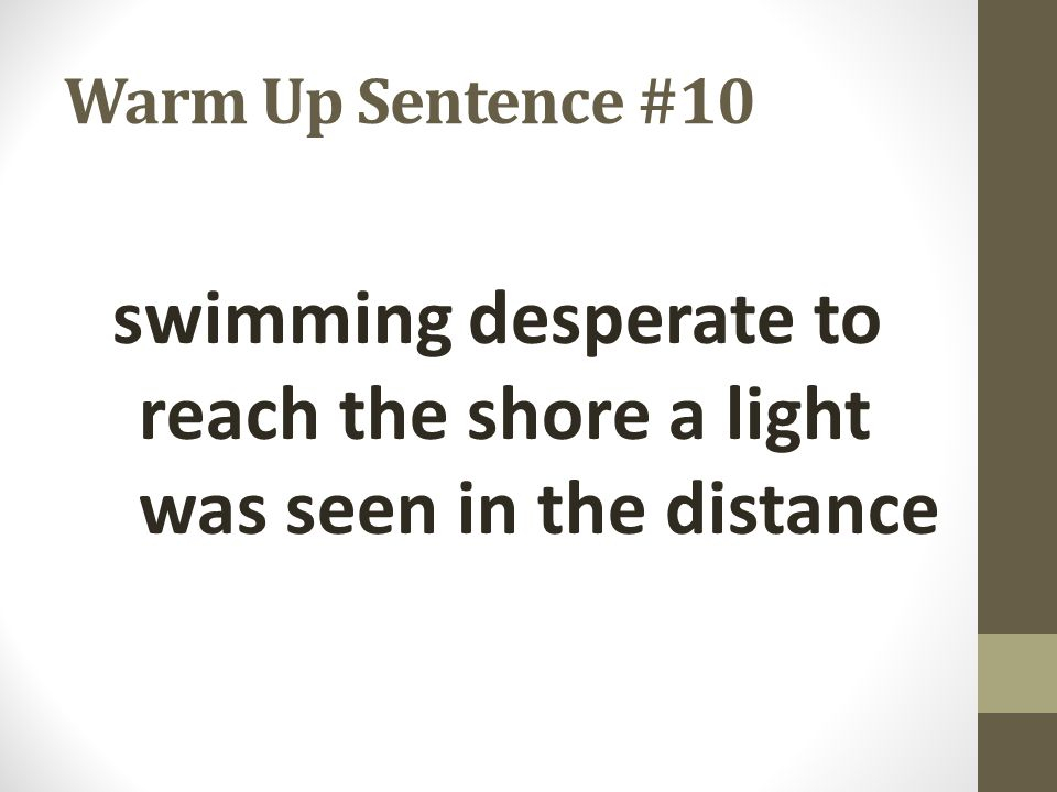 swimming desperate to reach the shore a light was seen in the distance