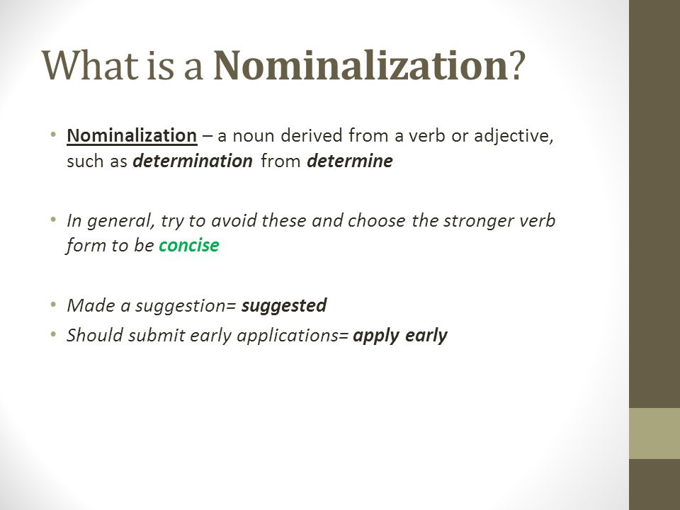 What is a Nominalization