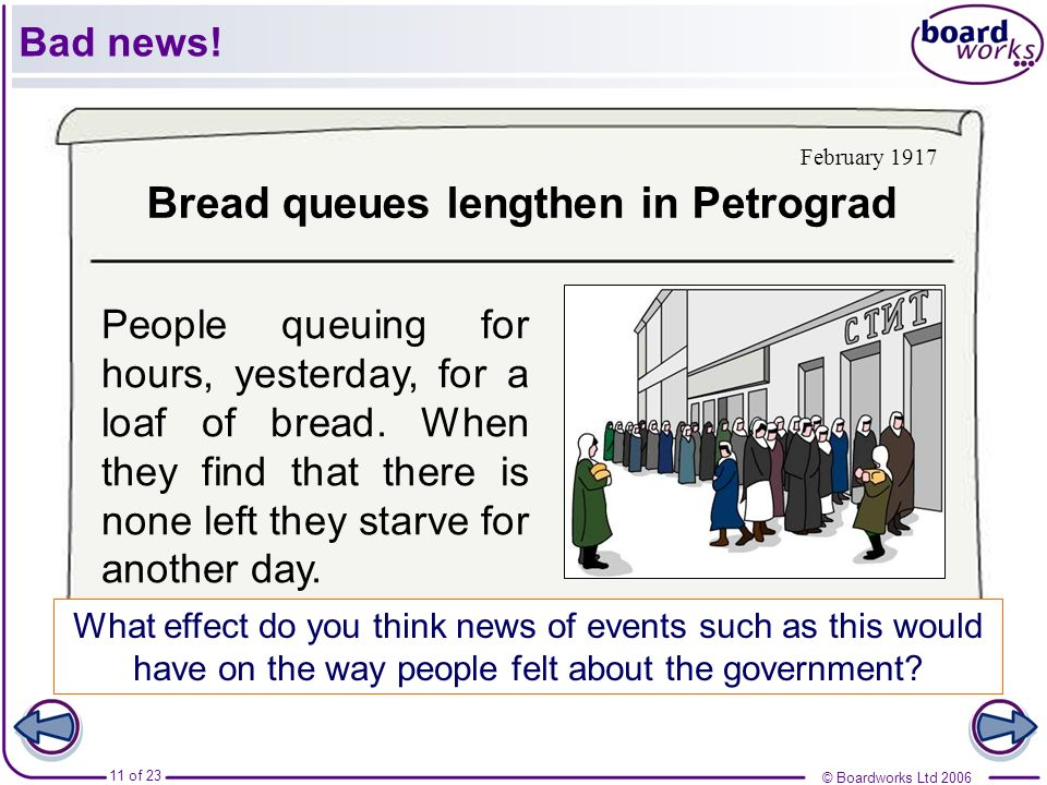 Bread queues lengthen in Petrograd