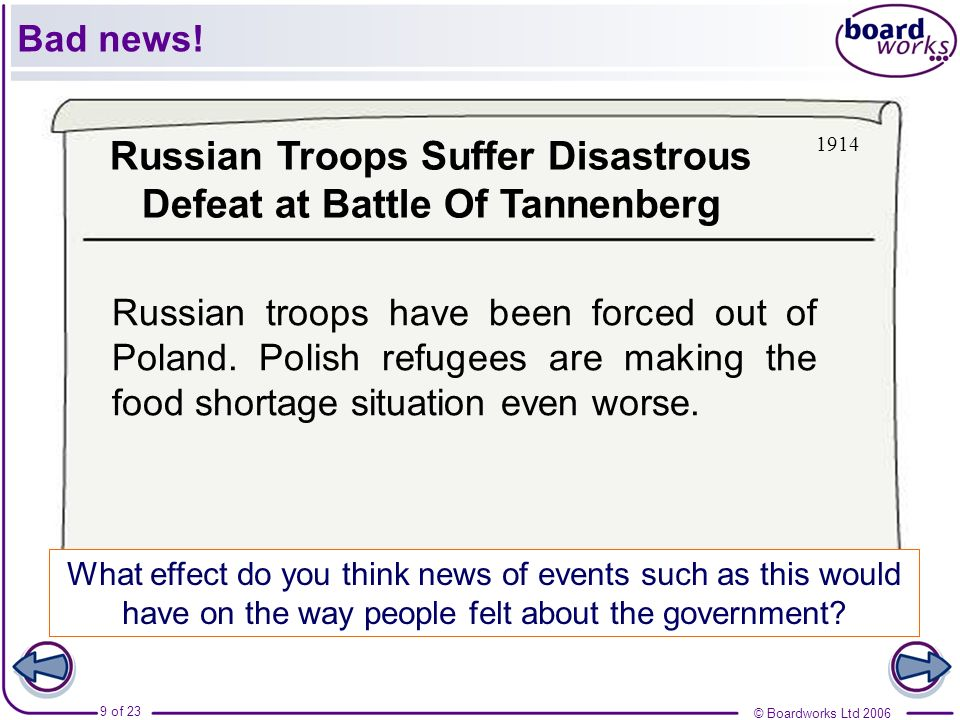 Russian Troops Suffer Disastrous Defeat at Battle Of Tannenberg