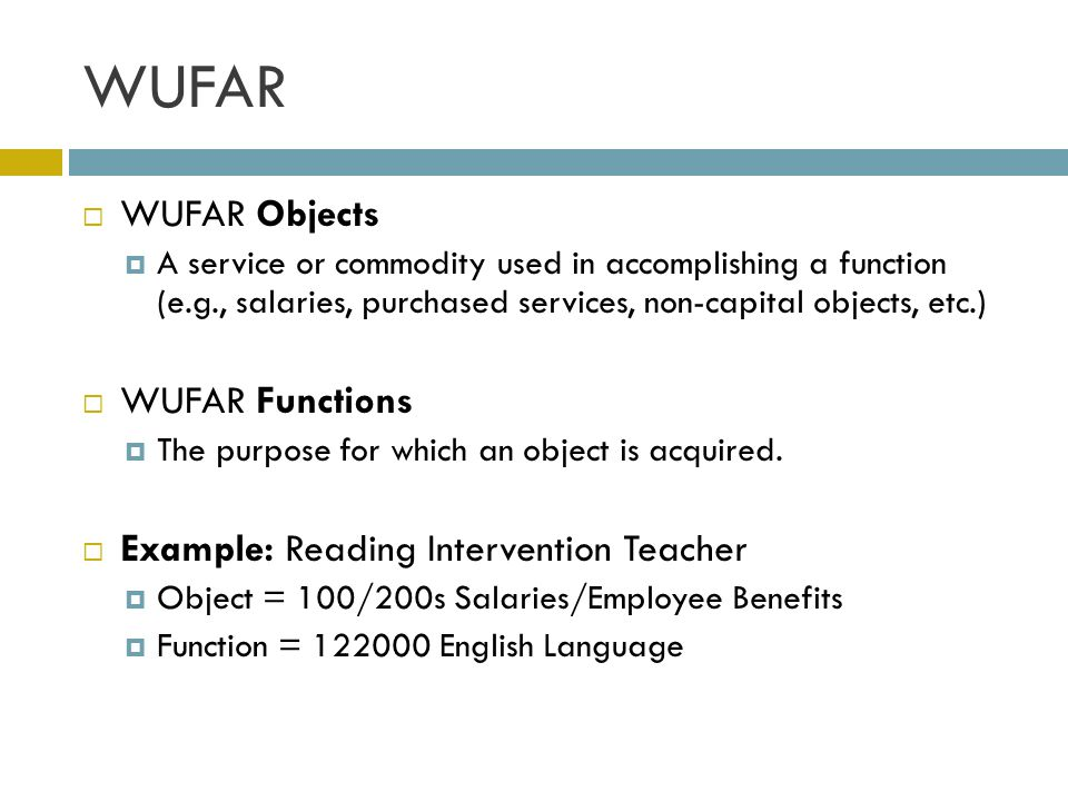 WUFAR WUFAR Objects WUFAR Functions