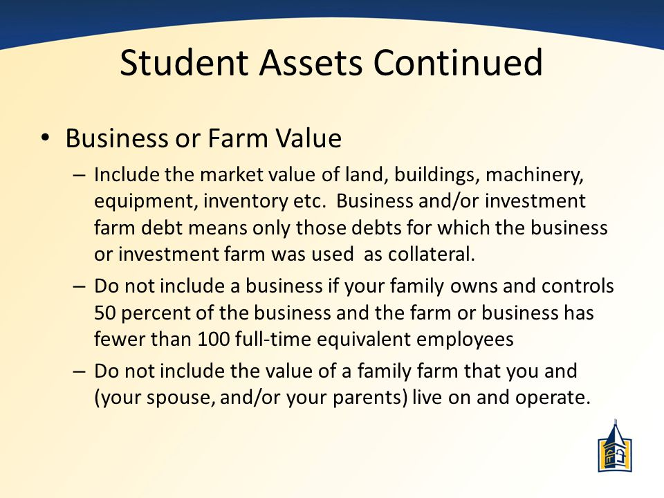 Student Assets Continued