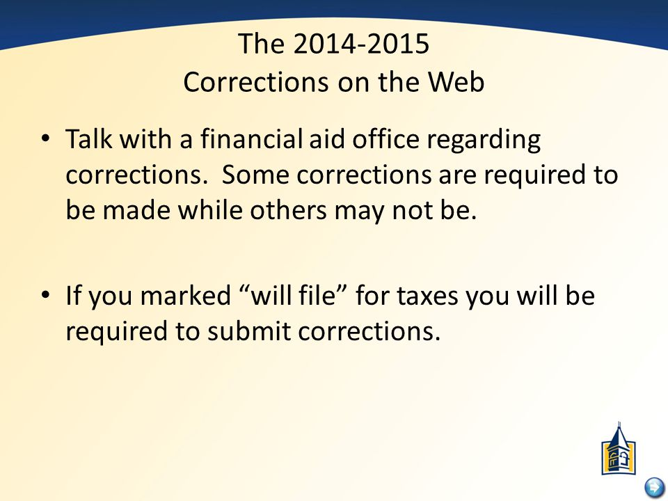 The 2014-2015 Corrections on the Web