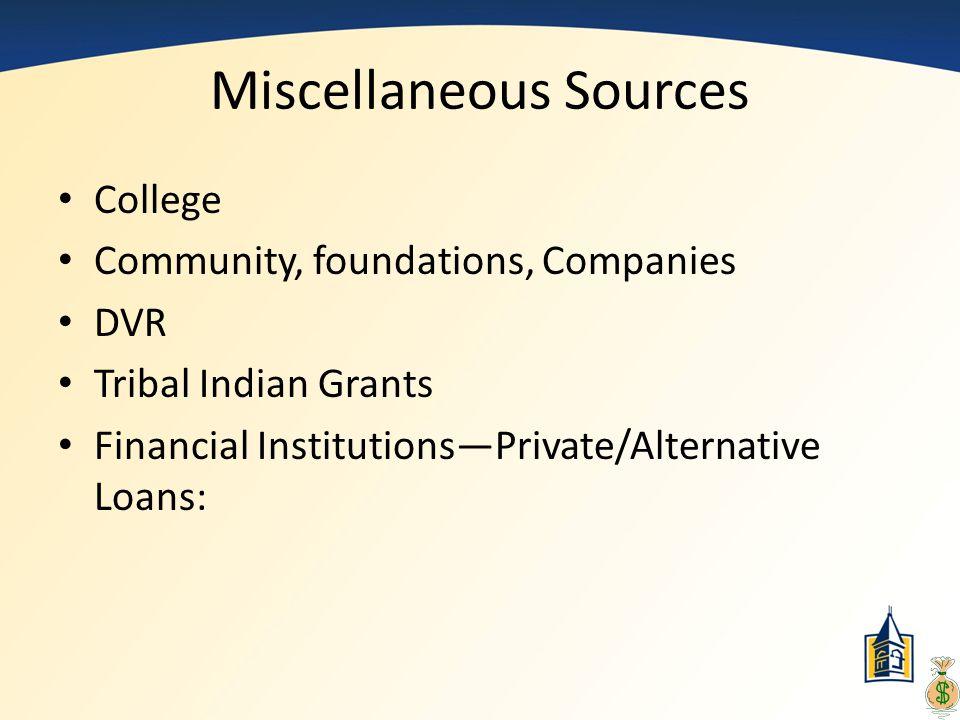 Miscellaneous Sources