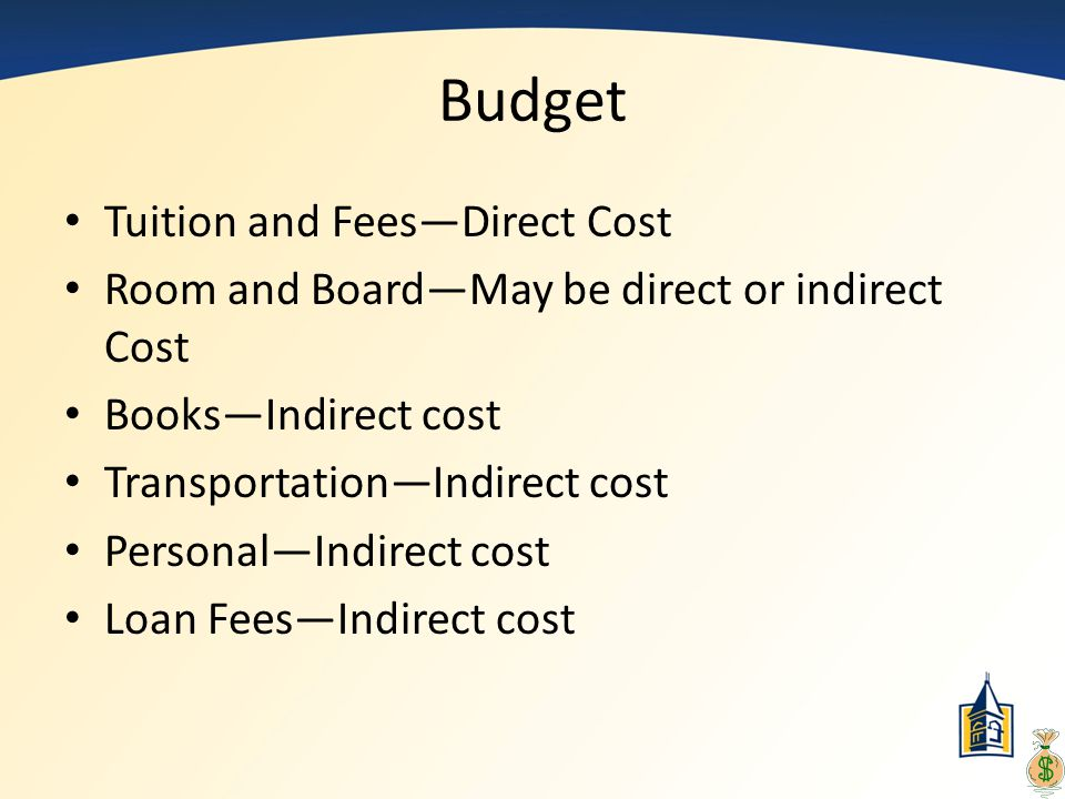 Budget Tuition and Fees—Direct Cost