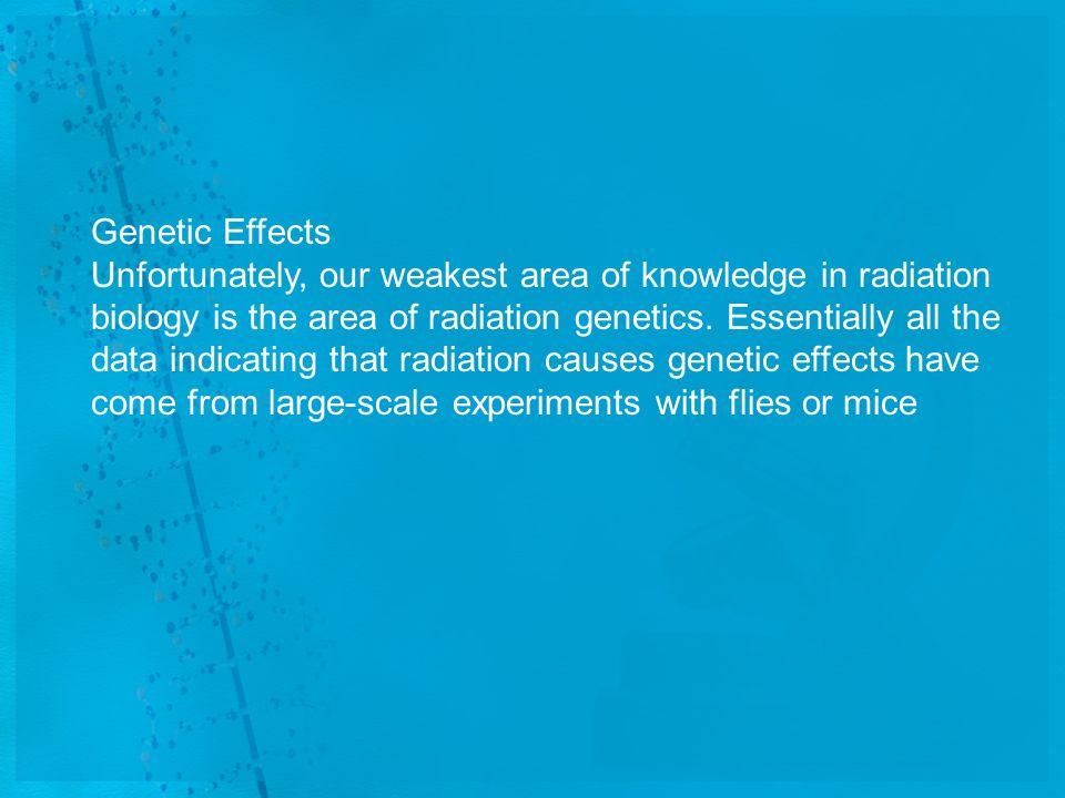 Genetic Effects