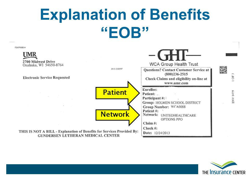 Explanation of Benefits EOB