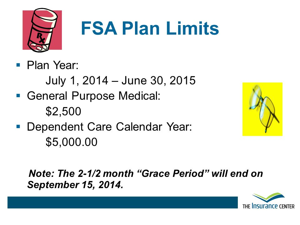 FSA Plan Limits Plan Year: July 1, 2014 – June 30, 2015