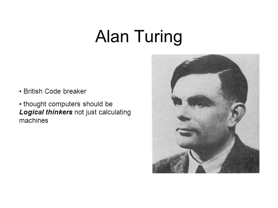 Alan Turing British Code breaker