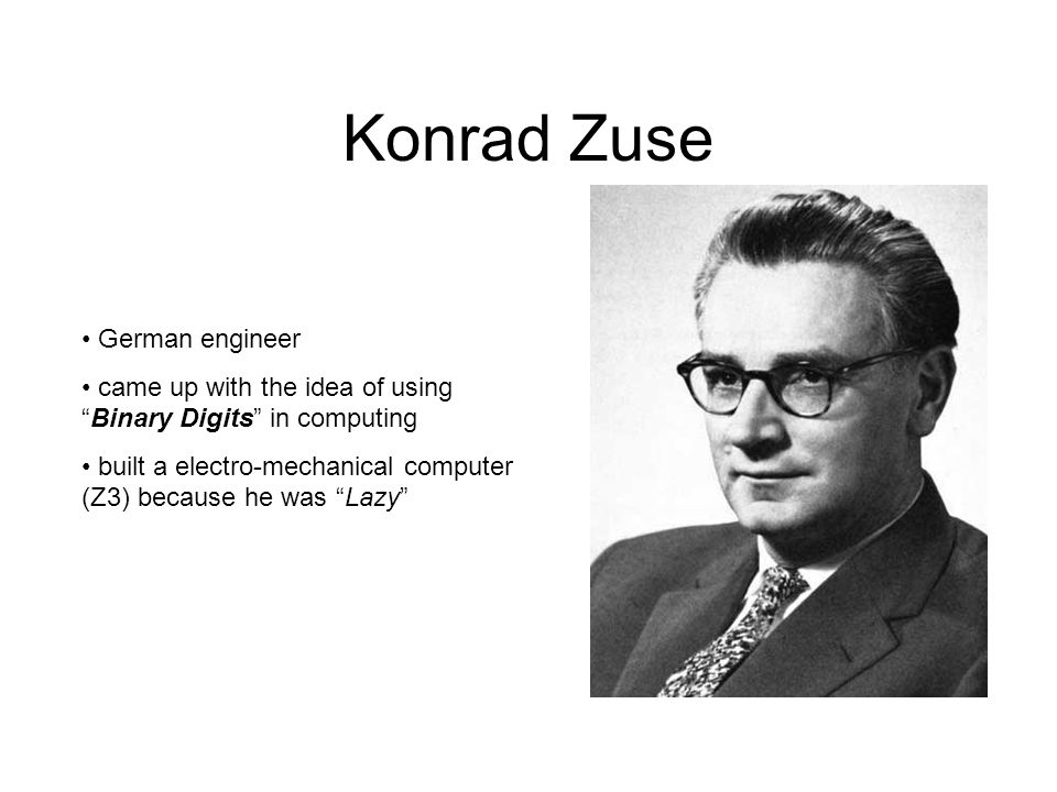 Konrad Zuse German engineer