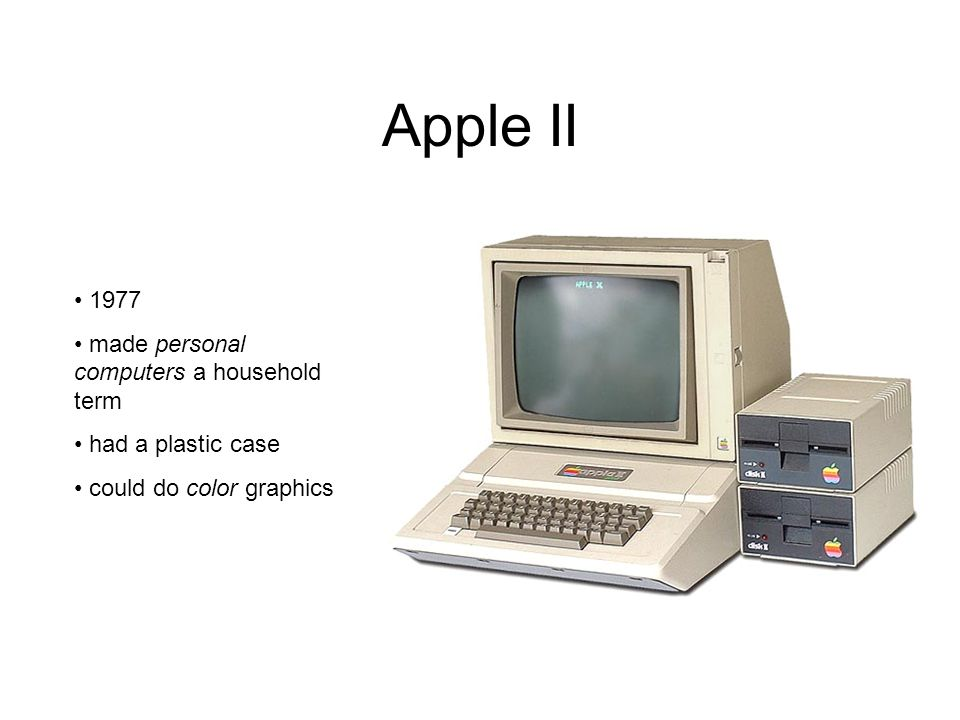 Apple II 1977 made personal computers a household term