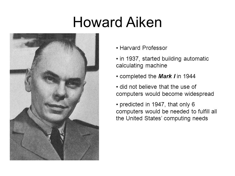 Howard Aiken Harvard Professor