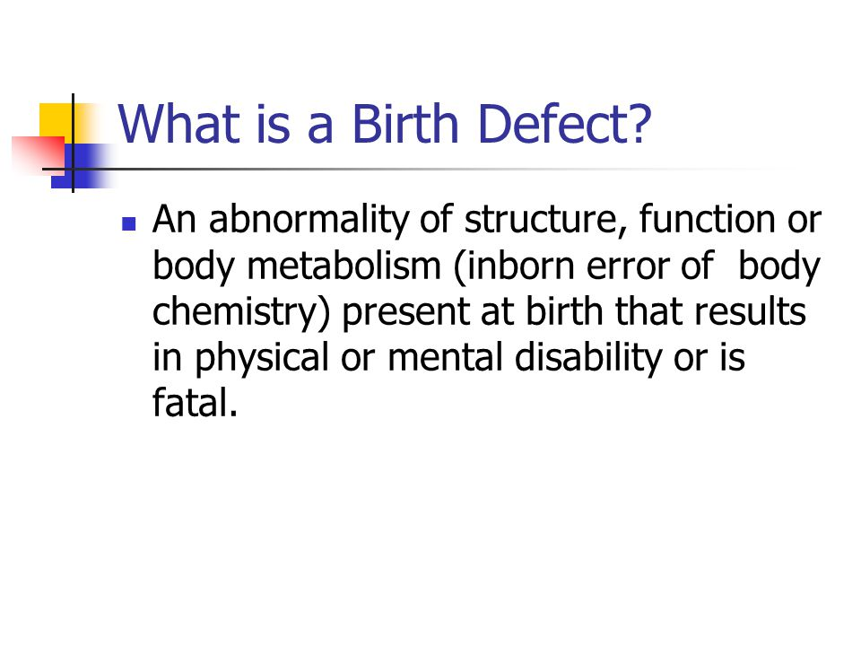 What is a Birth Defect