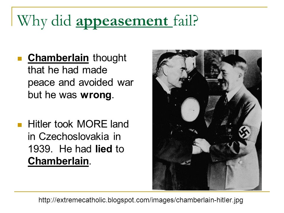 Why did appeasement fail