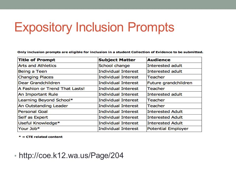 Expository Inclusion Prompts