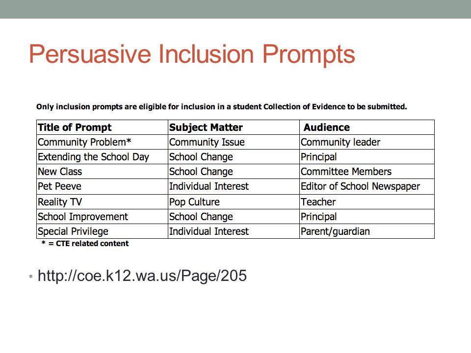 Persuasive Inclusion Prompts