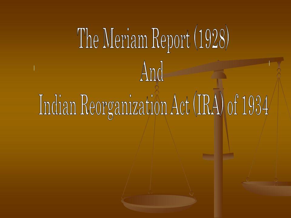 Indian Reorganization Act (IRA) of 1934