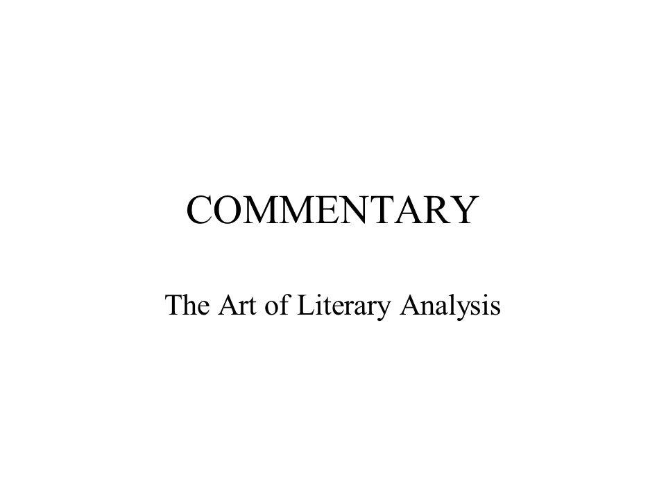 The Art of Literary Analysis