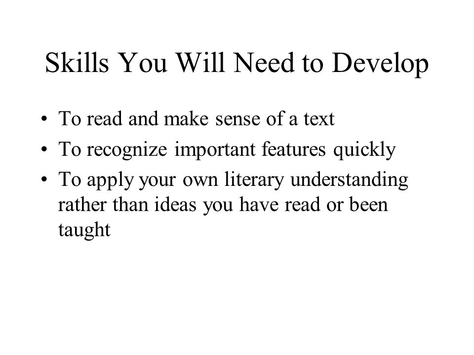 Skills You Will Need to Develop