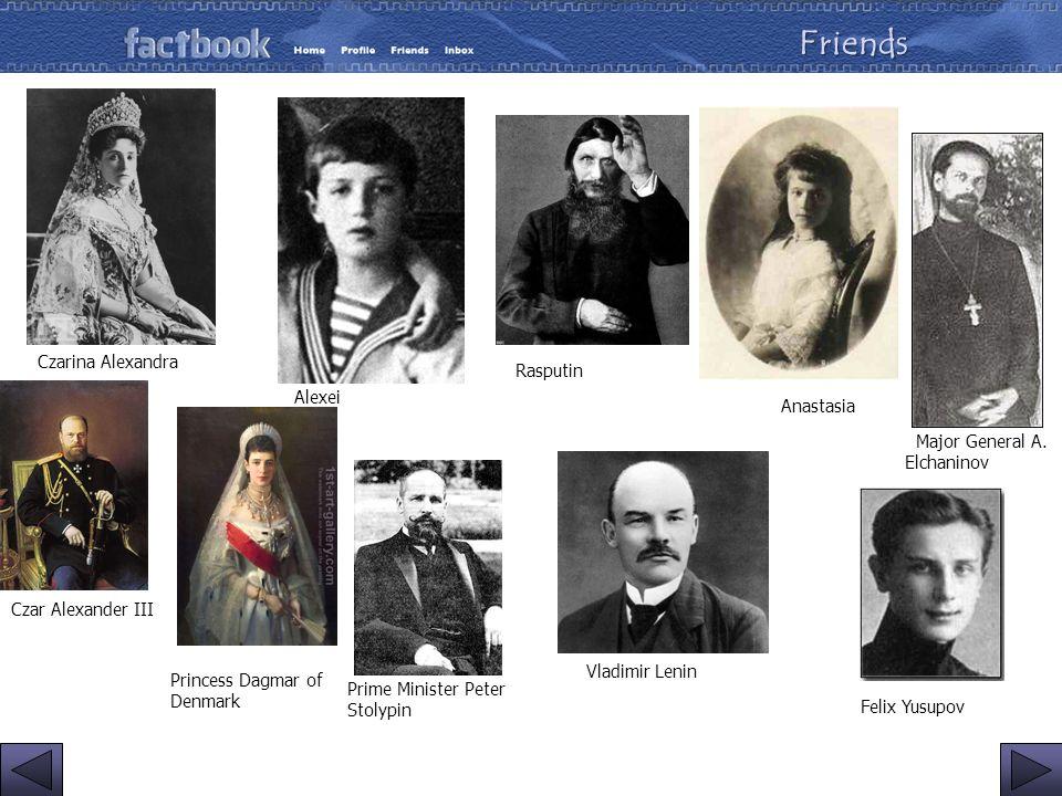 Friends Czarina Alexandra Rasputin Alexei Anastasia