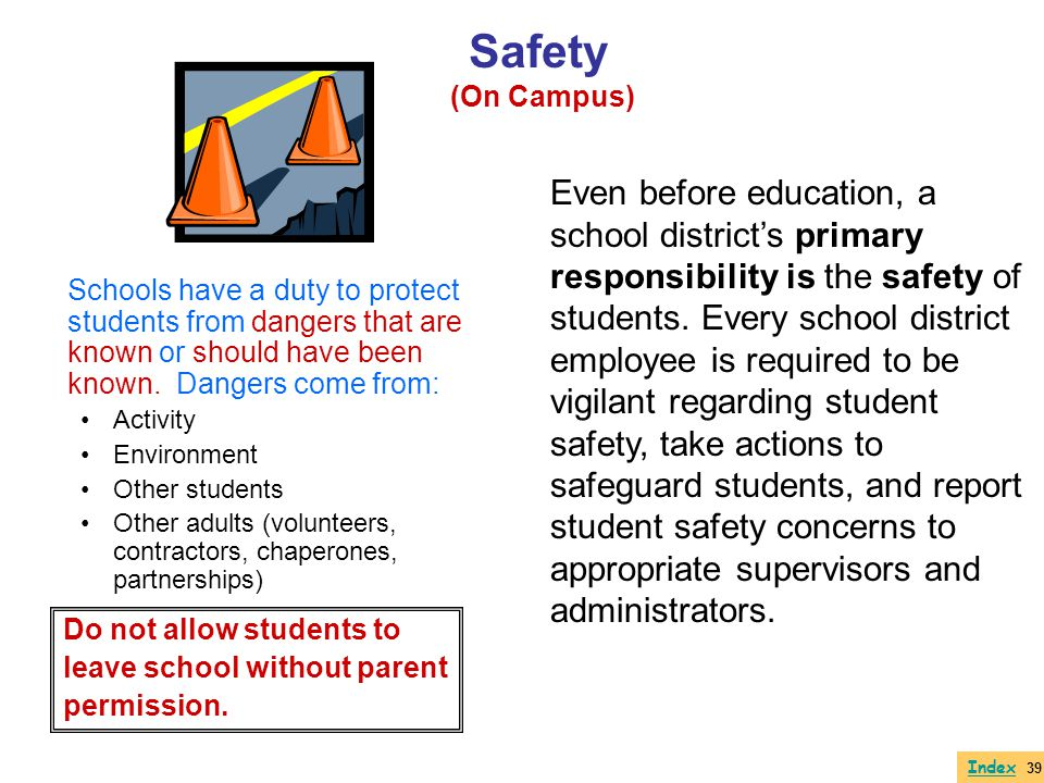 Safety (On Campus)