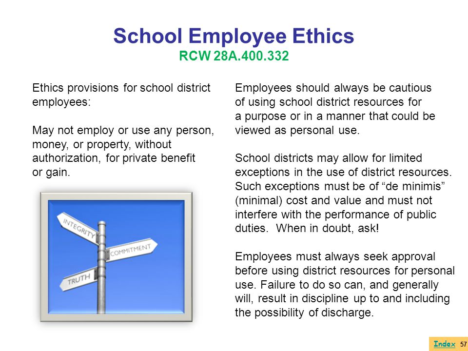 School Employee Ethics RCW 28A.400.332