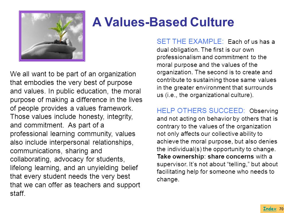 A Values-Based Culture