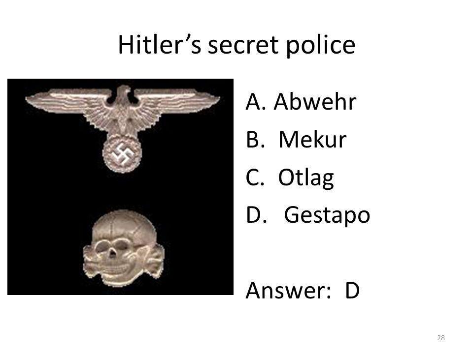 Hitler's secret police