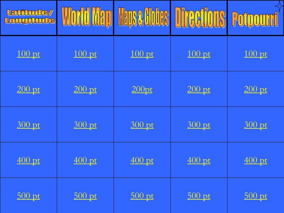 World Map Maps & Globes Directions Latitude/ Longitude Potpourri