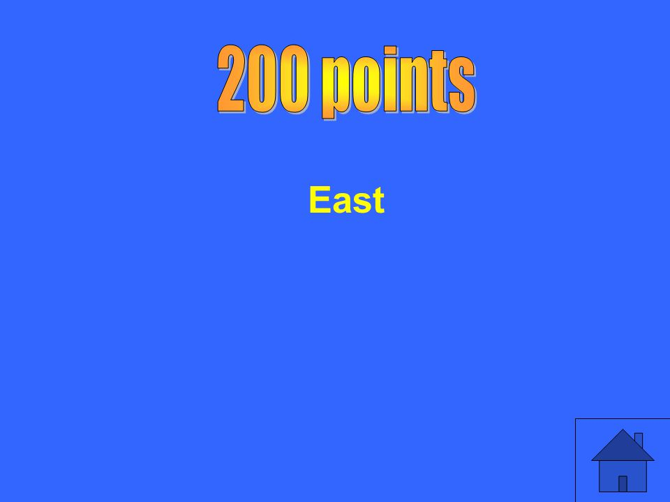 200 points East