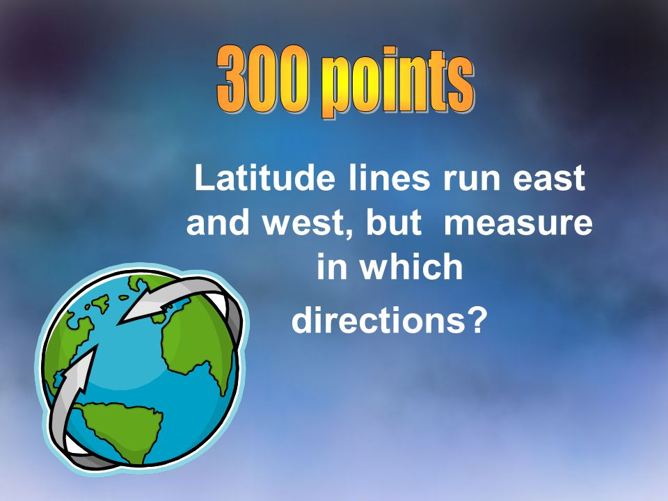 Latitude lines run east and west, but measure in which directions