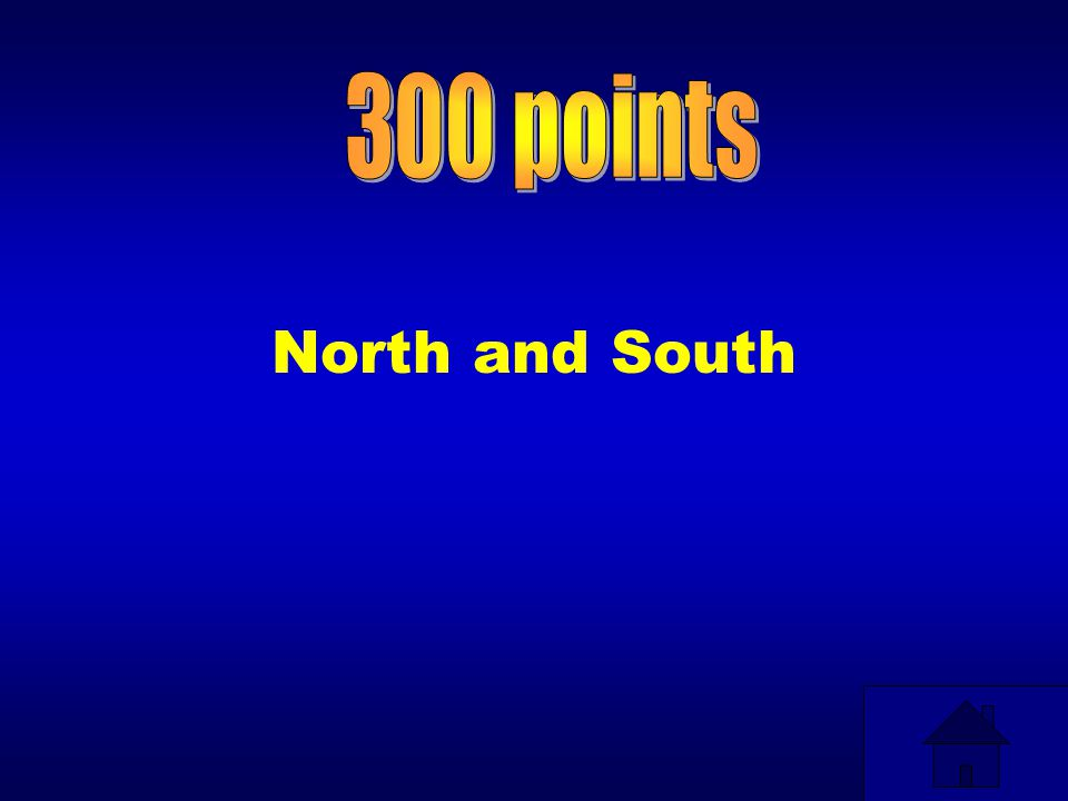 300 points North and South