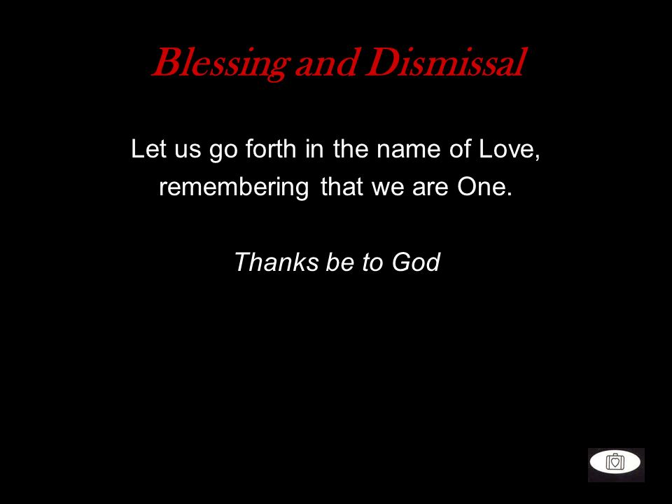 Blessing and Dismissal