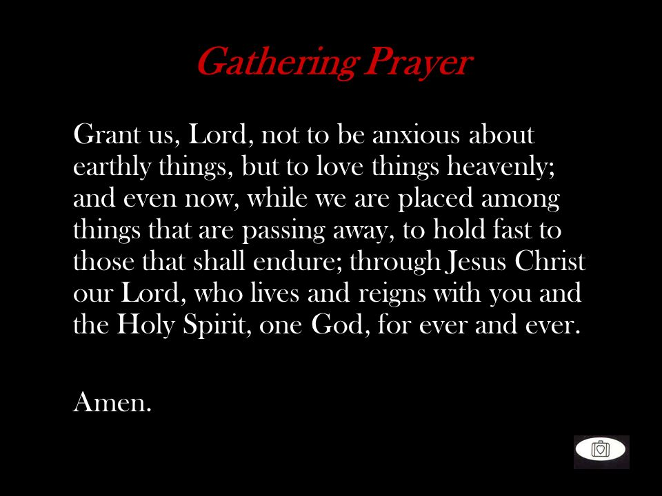 Gathering Prayer