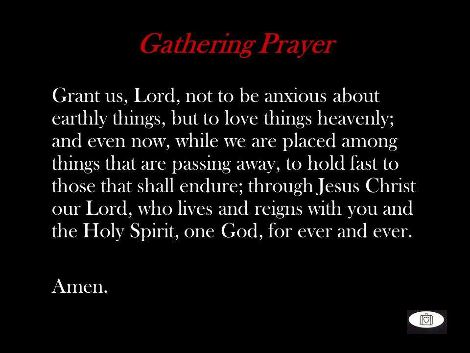 Gathering Prayer