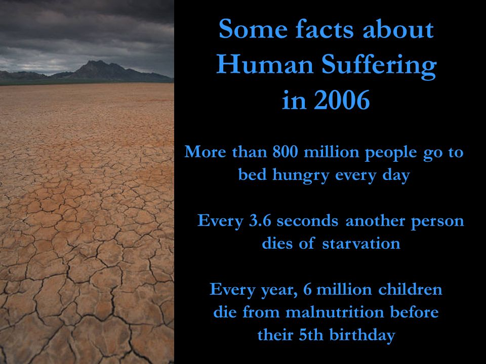 Some facts about Human Suffering in 2006