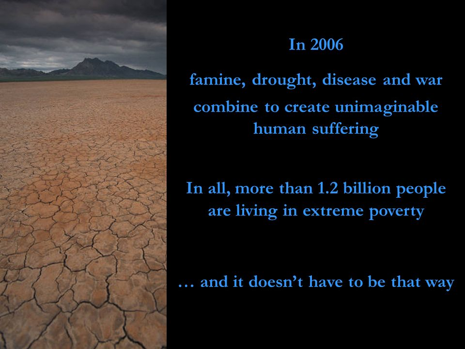 famine, drought, disease and war