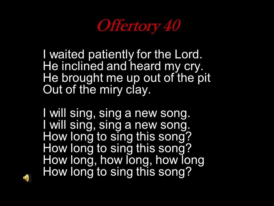 Offertory 40