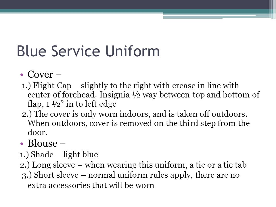 Blue Service Uniform Cover – Blouse –