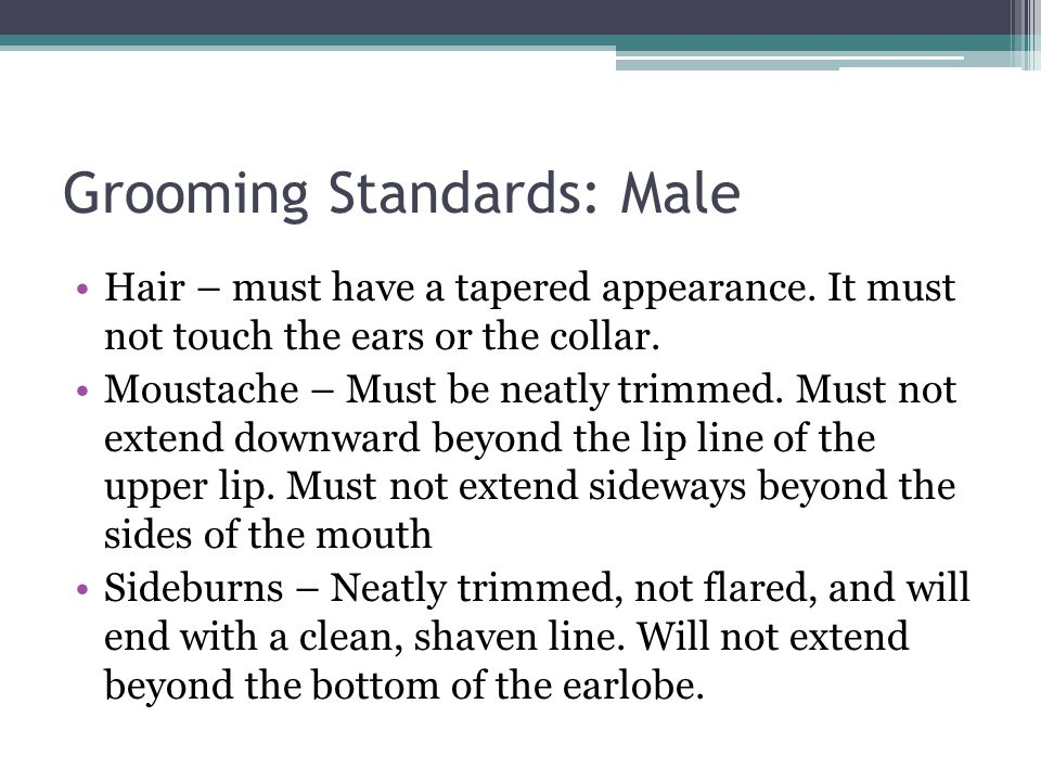 Grooming Standards: Male