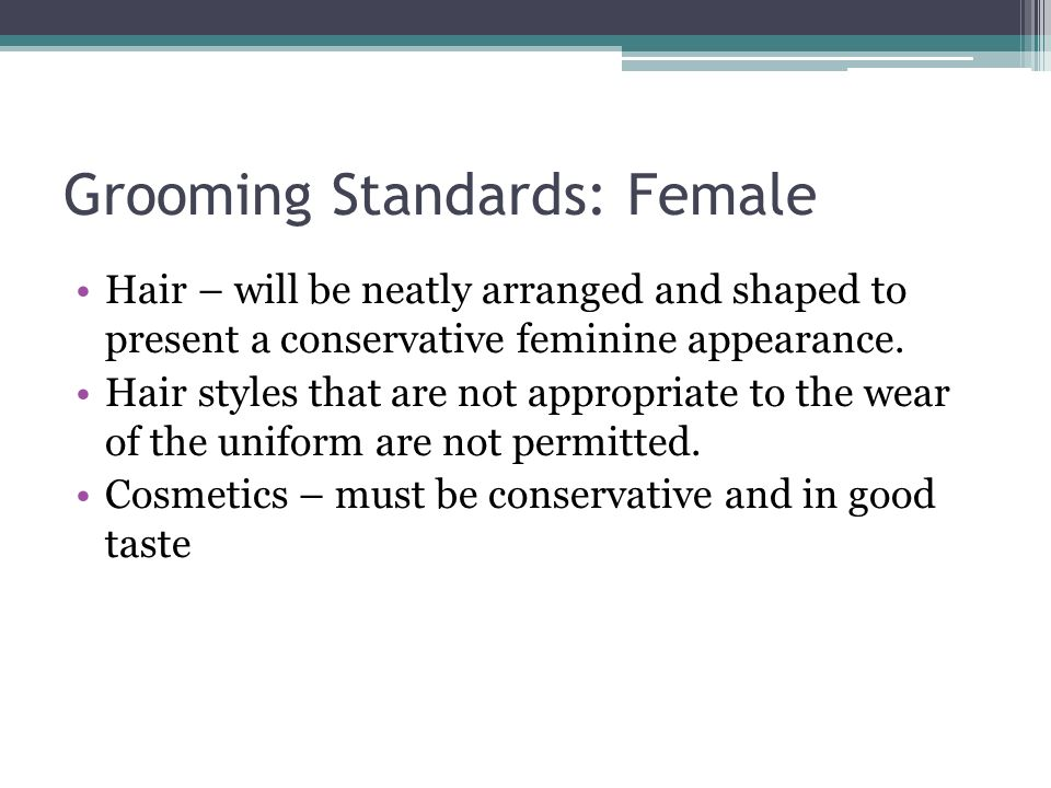 Grooming Standards: Female