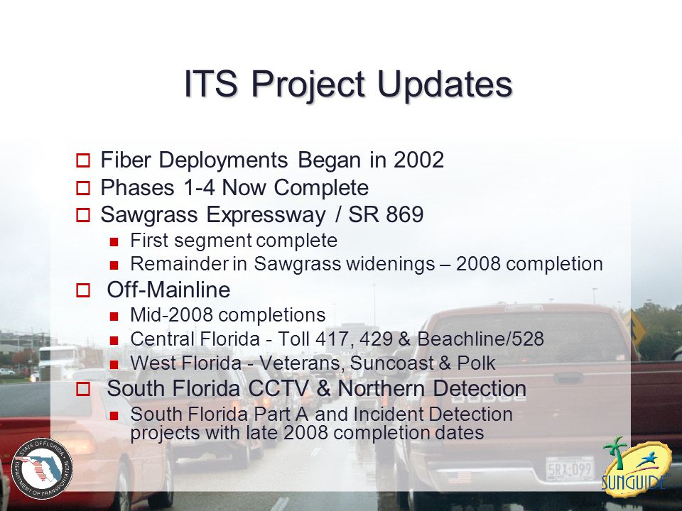 ITS Project Updates Fiber Deployments Began in 2002